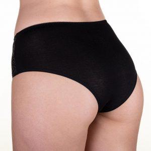 Malha para bioestimulacao feminina CR calcinha reta tamanho XG na cor Preta