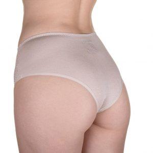 Malha para bioestimulacao feminina CR calcinha reta tamanho XG na cor Bege