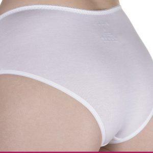Malha para bioestimulacao feminina CR calcinha reta tamanho P na cor Branca